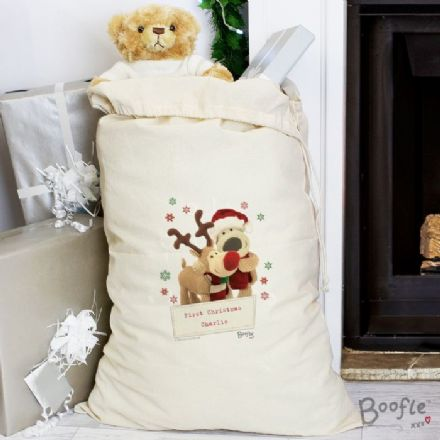 Boofle Personalised Cotton Christmas Sack
